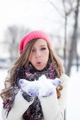 Let's play with the snow — Stock Photo