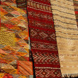 Stock Photo: Moroccan Carpets in a street shop souk