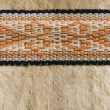 Nomad yurt detail - thick felt background and rope, seamless bac - Stock Photo