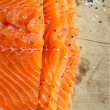 Smocked salmon homemade — Foto Stock