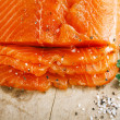 Smocked salmon homemade — Stockfoto