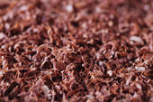 Fine grated chocolate background — Stock Photo