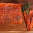 Smocked salmon homemade — Stock Photo
