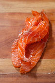 Smocked salmon slices — Stock Photo
