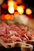 Platter of serrano jamon Cured Meat — Stock Photo