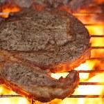 gıda et - Tarih parti Yaz Barbekü kaburga sığır eti ızgara wi — Stok fotoğraf