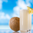 Pinacolada pina colada cocktail on beach — Stock Photo #33728921