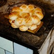 Stock Photo: Traditional eastern lepeshkn- white flat bread baked in old