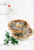 Christmas tart with mincemeat and candied peel — Stock Photo