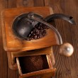 Постер, плакат: An old mechanical coffee mill
