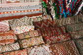 Moroccan cushions — Stock Photo