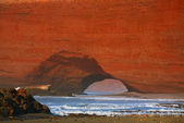 Legzira arcos de piedra, Océano Atlántico, Marruecos — Foto de Stock