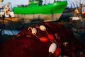 Fishing net in harbor of Essaouira — Stock Photo