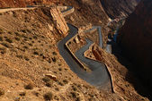 Snake like serpent road  in Dades Gorge, Morocco. — Stock Photo