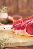 Raw beef Rib steak — Stockfoto