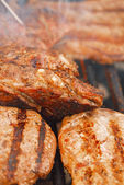 Food meat -  beef steak bbq — Stock Photo
