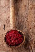 Saffron spice in pile — Stock Photo