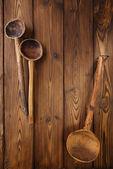 Cucharas de madera antiguas — Foto de Stock