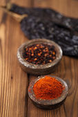 Chipotle - jalapeno smoked chili flakes — Stock Photo