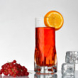 Stock Photo: Fresh currants flavoured drink