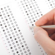 Teacher correct test — Stock Photo