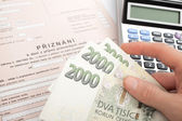 Czech tax form — Stock Photo