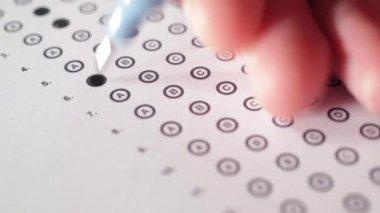 Teste correto professor — Vídeo Stock