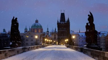 Charles Bridge (Prague) — Stockvideo
