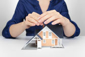 Protect house - insurance concept — Stock Photo