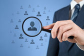 人力资源和客户关系管理 — 图库照片