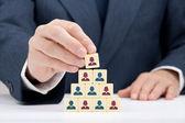 Frau ceo und human resources — Stockfoto