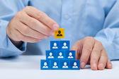 Human resources und ceo — Stockfoto