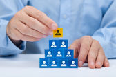 Human resources and CEO — Stock Photo