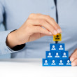Human resources and CEO — Stock Photo #38138855