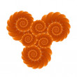 Foto Stock: Orange fruit fractal