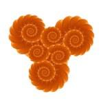 橙色水果分形 — 图库照片