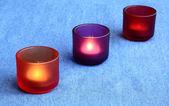 Três velas ardentes — Foto Stock