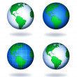 Earth globes — Stock Photo #13152437