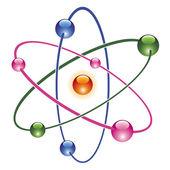 Vector abstract atom icon — Stock Vector