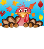 Vector thanksgiving day design of turkey — Stock Vector