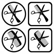 Vector hairdresser symbols - Stock Vector