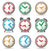 Vector klok symbolen — Stockvector