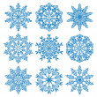 Vector snowflakes - Stock Vector
