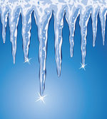 Vector icicles — Stock Vector