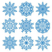 Vector copos de nieve — Vector de stock