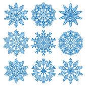 Vektor snöflingor — Stockvektor