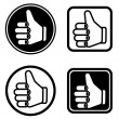 Vector thumb up icons — Stock Vector