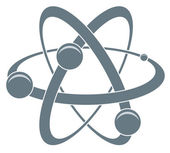 Icona di vettore dell'atomo — Vettoriale Stock