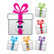 Vector gift box symbols  — Stock Vector #19517571