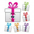 Vector gift box symbols  — Stock Vector